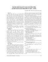 TÌNH HÌNH CHUẨN đoán, điều TRỊ UNG THƯ BUỒNG TRỨNG tại BỆNH VIỆN PHỤ sản TRUNG ƯƠNG từ 1 2003   12 2007