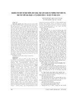 NGHIÊN cứu một số đặc điểm lâm SÀNG, cận lâm SÀNG và PHƯƠNG PHÁP điều TRỊ UNG THƯ lưỡi GIAI đoạn i, II tại BỆNH VIỆN k   hà nội 2005 2010