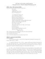 Tuyển tập đề thi vào lớp 10 môn văn (có lời giải) (11)