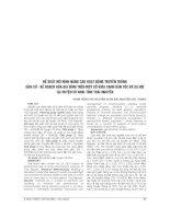 ĐỀ XUẤT mô HÌNH NÂNG CAO HOẠT ĐỘNG TRUYỀN THÔNG dân số   kế HOẠCH hóa GIA ĐÌNH TRÊN một số KHÍA CẠNH dân tộc và xã hội tạ HUYỆN võ NHAI TỈNH THÁI NGUYÊN