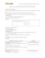 Giáo án số học 6 chương 2 bài 11