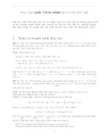 Tổng hợp các bài giải tích hàm qua các kì thi (có lời giải)