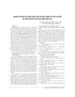 NGHIÊN cứu điều TRỊ PHẪU THUẬT UNG THƯ đại TRÀNG tái PHÁT SAU mổ tại BỆNH VIỆN VIỆT đức GIAI đoạn 2005 2011