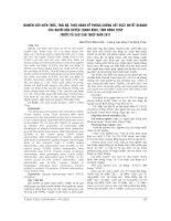 NGHIÊN cứu KIẾN THỨC, THÁI độ, THỰC HÀNH về PHÒNG CHỐNG sốt XUẤT HUYẾT DENGUE của NGƯỜI dân HUYỆN THANH BÌNH, TỈNH ĐỒNG THÁP TRƯỚC và SAU CAN THIỆP năm 2011