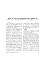 ĐÁNH GIÁ THỰC TRẠNG sử DỤNG và BIỆN PHÁP PHÒNG vệ của NGƯỜI NÔNG dân đối với hóa CHẤT bảo vệ THỰC vật tại xã VĨNH LONG, HUYỆN hậu lộc, TỈNH THANH hóa