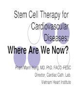 Điều trị bằng tế bào gốc trong bệnh tim thiếu máu cục bộ