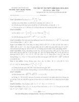 tuyển tập đề thi thử THPT quốc gia 2015 môn toán   có đáp án