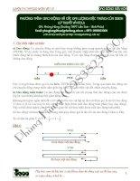 Phương trình dao động và các đại lượng đặc trưng của dao động điều hòa
