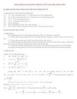 tổng hợp phương pháp giải phương trình vô tỉ ôn thi học sinh giỏi toán có giải chi tiết