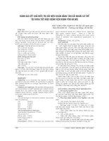 ĐÁNH GIÁ kết QUẢ điều TRỊ sỏi NIỆU QUẢN BẰNG tán sỏi NGOÀI cơ THỂ tại KHOA TIẾT NIỆU BỆNH VIỆN XANH pôn hà nội