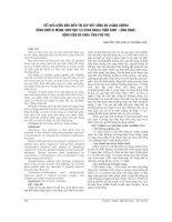 KẾT QUẢ bước đầu điều TRỊ xẹp đốt SỐNG DO LOÃNG XƯƠNG BẰNG bơm XI MĂNG SINH học tại KHOA NGOẠI THẦN KINH   LỒNG NGỰC, BỆNH VIỆN đa KHOA TỈNH PHÚ THỌ