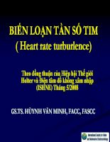 BIẾN LOẠN tần SỐTIM ( heart rate turburlence)