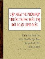 Cập nhật về phối hợp thuốc trong điều trị rối loạn lipid máu