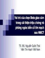 Vai trò của chẹn beta giao cảm trong cải thiện triệu chứng và phòng ngừa biến cố tim mạch sau NMCT