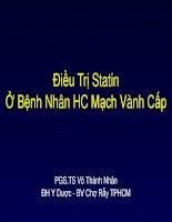 Điều trị statin ở bệnh nhân HC mạch vành cấp