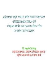 RỐI LOẠN NHỊP TIM và BIẾN THIÊN NHỊP TIM  HOLTER điện TIM 24 giờ ở BỆNH NHÂN đái THÁO ĐƯỜNG týp 2 có BIẾN CHỨNG THẬN