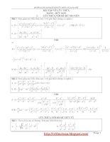 Hướng dẫn giải bài tập theo chuyên đề hàm số mũ, hàm số logarit