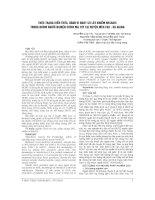THỰC TRẠNG KIẾN THỨC, HÀNH VI NGUY cơ lây NHIỄM HIV AIDS TRONG NHÓM NGƯỜI NGHIỆN CHÍCH MA túy tại HUYỆN mèo vạc   hà GIANG