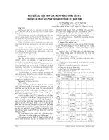 HIỆU QUẢ các BIỆN PHÁP CAN THIỆP PHÒNG CHỐNG sốt rét tại TỈNH LAI CHÂU SAU PHÂN VÙNG DỊCH tễ sốt rét năm 2009