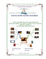 NÂNG CAO HIỆU QUẢ dạy học môn hóa BẰNG hệ THỐNG câu hỏi và sơ đồ tư DUY TRONG CHƯƠNG 2 KHỐI 11 tại TRƯỜNG THPT GIO LINH
