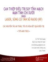 CAN THIỆP điều TRỊ SUY TĨNH MẠCH mạn TÍNH CHI dưới BẰNG LASER, SÓNG có tần số RADIO (RF)