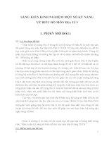 SÁNG KIẾN KINH NGHIỆM một số kỹ NĂNG vẽ BIỂU đồ môn địa lí 9