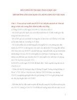 ĐỀ CƯƠNG ôn THI học PHẦN CHỌN lọc môn ĐƯỜNG lối CÁCH MẠNG của ĐẢNG CỘNG sản VIỆT NAM