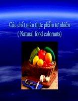 bài giảng các chất màu thực phẩm tự nhiên