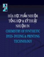 bài giảng   hóa học phẩm nhuộm tổng hợp và kỹ thuật nhuộm in