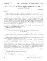 BÀI báo KHOA học   xác ĐỊNH tỷ lệ BỆNH RĂNG MIỆNG của học SINH TIỂU học THÀNH PHỐ hà nội