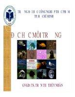 Bài giảng môn độc học môi trường   chương 4  độc học môi trường không khí   sinh học   kim loại nặng (phần 1)   TS  trần thị thúy nhàn