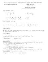 khảo sát chất lượng đầu năm học môn toán  lớp 8,lớp 9