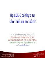 Hạ LDL c có thực sự cần thiết và an toàn