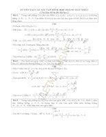 Tuyển tập các bài toán hình học phẳng Oxy hay nhất ôn thi THPT quốc gia có đáp án chi tiết