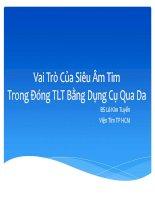 Vai trò của siêu âm TIM trong đóng TLT bằng dụng cụ qua da
