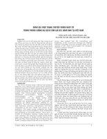 ĐÁNH GIÁ THỰC TRẠNG TRUYỀN THÔNG NGUY cơ TRONG PHÒNG CHỐNG đại DỊCH cúm a(h1n1) năm 2009 tại VIỆT NAM