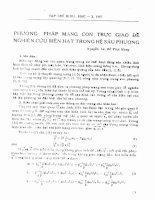 Phương pháp mạng con trực giao để nghiên cứu biên hạt trong hệ sáu phương