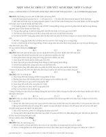 MỘT số câu hỏi lý THUYẾT SINH học mới và HAY