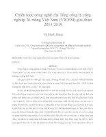 Chiến lược công nghệ của tổng công ty công nghiệp xi măng việt nam (VICEM) giai đoạn 2014 2019