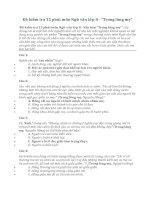 Đề kiểm tra 15 phút môn Ngữ văn lớp 8  Trong lòng mẹ