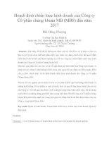 Hoạch định chiến lược kinh doanh của công ty cổ phần chứng khoán MB (MBS) đến năm 2017