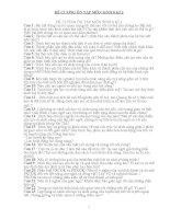ĐỀ CƯƠNG ÔN TẬP MÔN SINH 8 KÌ 2 CÓ ĐÁP ÁN