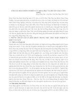 HNTS 2012 12 tóm tắt HOẠT ĐỘNG NGHIÊN cứu KHOA học và CHUYỂN GIAO CÔNG NGHỆ