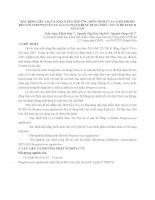 HNTS 2012 18 xác ĐỊNH LIỀU LD50 và KHẢ NĂNG đáp ỨNG MIỄN DỊCH của cá rô PHI đỏ đối với STREPTOCOCCUS AGALACTIAE KHI sử DỤNG THỨC ăn có bổ SUNG β GLUCAN