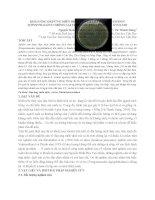 HNTS 2012 04 KHẢ NĂNG đáp ỨNG MIỄN DỊCH của cá TRA PANGASIANODON HYPOPTHALMUS CHỐNG lại VI KHUẨN  EDWARDSIELLA ICTALURI