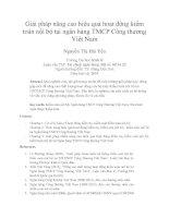 Giải pháp nâng cao hiệu quả hoạt động kiểm toán nội bộ tại ngân hàng TMCP công thương việt nam