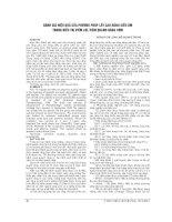 ĐÁNH GIÁ HIỆU QUẢ của PHƯƠNG PHÁP lấy CAO RĂNG SIÊU âm TRONG điều TRỊ VIÊM lợi, VIÊM QUANH RĂNG sớm