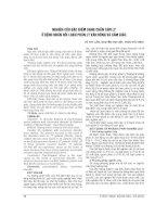 NGHIÊN cứu đặc điểm SANG CHẤN tâm lýở BỆNH NHÂN rối LOẠN PHÂN LY vận ĐỘNG và cảm GIÁC