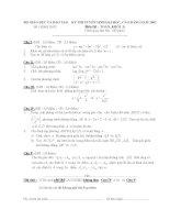 Đề thi đại học và đáp án môn toán khối B từ năm 2002 - 2014