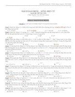200 câu mạch dao động có phân dạng và đáp án